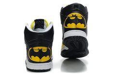 Nike Nike DC Comic Batman Themed Custom Dunk Shoes Features Batman sign signal