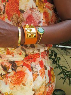 Arm party:Cartier+Hermes bracelet