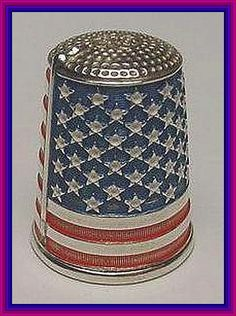 Notes From a Thimble Psycho: Happy Fourth of July! Vintage Sewing Notions, Happy Fourth Of July, Let Freedom Ring, Old Glory, Sewing Accessories, Red White Blue, Pin Cushions, American Flag, American Pride