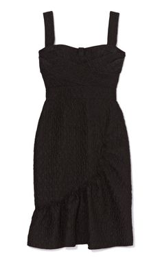 Cloque Crepe Dress With Ruffle Bottom by Peter Som Now Available on Moda Operandi