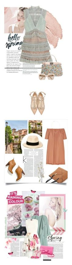 """Winners for Sweet Spring Dresses"" by polyvore ❤ liked on Polyvore featuring GINTA, Chanel, self-portrait, Fendi, Valentino, Miu Miu, ADAM, Rosa de la Cruz, Madewell and Eugenia Kim"