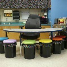 Diy classroom seating projects Ideas for 2019 Classroom Design, Kindergarten Classroom, School Classroom, Classroom Themes, Classroom Organization, Classroom Seats, Diy Organization, Future Classroom, Classroom Management