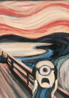 Minions. the Scream. Munch. Parody. OMG