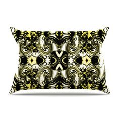 East Urban Home The Palace Walls II by Dawid Roc Yellow Featherweight Pillow Sham