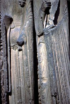 Right Jamb Figure-Detail- Garments West Facade, Central Portal, Chartres