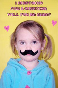 My Munchkin's Mustache Valentine <3