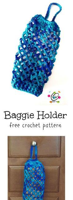 Free Pattern: Bag Keeper ~ Snappy Tots Source by latarachristian Crochet Handbags, Crochet Purses, Crochet Bags, Crochet Shell Stitch, Free Crochet, Quick Crochet Gifts, Plastic Bag Crochet, Bag Pattern Free, Easy Crochet Projects