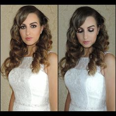 Wedding hair Wedding Hairstyles, White Dress, Dresses, Fashion, Medium Wedding Hairstyles, White Dress Outfit, Fashion Styles, Wedding Hair Half, Wedding Hair