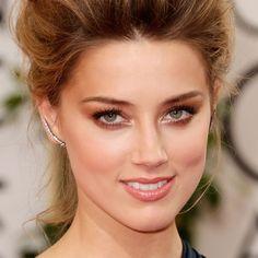 Amber Heard Golden Globe Awards Makeup by Hourglass - Get the Look! - VanityRouge - VanityRouge