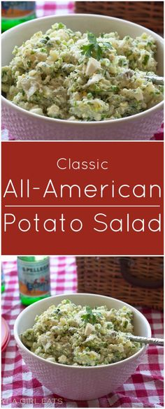 Classic All-American potato salad! Gluten free.