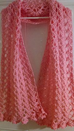 Pink Ribbon Prayer Shawl | AllFreeCrochet.com