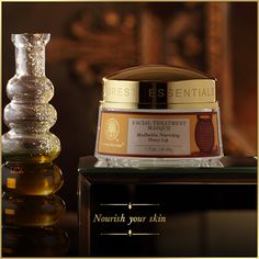 A highly nourishing #organic #Honey Lep or Masque, made from #ancient Ayurvedic texts. Fermented raw cane sugar is blended with fresh orange juice, organic. An #incredible food for the skin to give it a #radiant #glow. Read more: http://www.forestessentialsindia.com/facial-treatment-masque-madhulika-nourishing-honey-lep.html