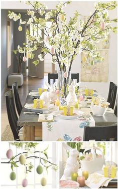 Fabulous Easter Tablescape Ideas... - Love of Family & Home #rabbithouses