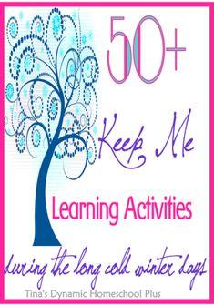 50 Keep Me Homeschooling Activities During the Long Cold Winter Days   Tina's Dynamic Homeschool Plus    #wintercrafts  #homeschool