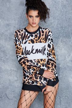 Bengal Spliced Sweater - LIMITED ($110AUD) by BlackMilk Clothing