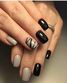 25 Edgy Black Nail Designs Accent Nails Black Nails And Hennas