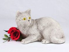 Affordable and personalized pet urns to choose from. Beautiful customized pet urns for your beloved. We have dog urns, cat urns, bunny rabbit urns, horse urns, burial markers and cremation jewelry urns. Grey And White Cat, Grey Cats, Gray, Cornish Rex Cat, Bobtail Cat, Pet Name Tags, Cat Light, Long Haired Cats, Pet Ashes