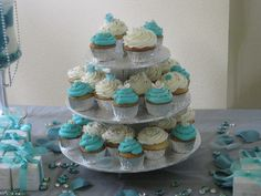 Tiffany Cupcakes for a Bridal Shower