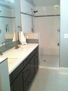 Black Cabinets | Shaker Style | CliqStudios - contemporary - bathroom - minneapolis - CliqStudios Cabinets