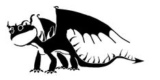Terrible Terror Dragon Stencil