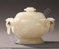 BOWL AND COVER in White Jade, Qianlong Period (1736-1796), China | Christie's, Hong Kong