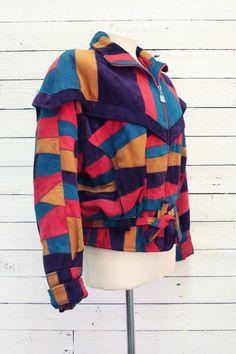 bright color patch jacket