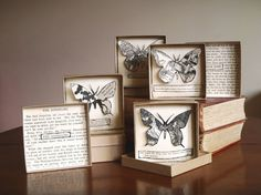 Imogene Greene....Paper cuts from vintage books in recycled boxes