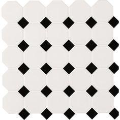 found it at wayfair octagon random sized porcelain mosaic tile in whiteblack - Matchstick Tile Castle 2016