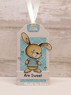 tag card critters bunny MFT snuggle bunnies Die-namics MFT Tagbuilder 5 Tag-builder 5 Die-namics #mftstamps Kuni's Bastelblog