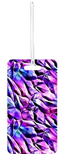 Luggage Tags Collections | Prismatic Shards Print Design Lea Elliot Set of 8 Luggage Tags with Customizable Back >>> You can get more details by clicking on the image. Note:It is Affiliate Link to Amazon.