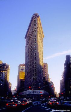 An architectural image of Flatiron Building in the Great Buildings Online. Places To Travel, Places To Go, Mother Art, Building Images, Flatiron Building, Unique Architecture, Architectural Elements, Flat Iron, Empire State Building