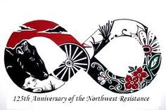 Métis Graphic: Anniversary of the Northwest Resistance Aboriginal Culture, Aboriginal Artists, Tribal Tattoo Designs, Tribal Tattoos, Indian Tattoos, Native Art, Native American Art, Canada Tattoo, Canadian History
