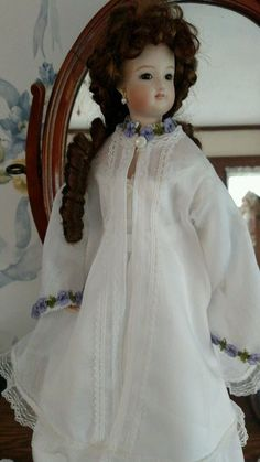 French Fashion Reproduction Doll Bisque Swivel FG 4 with Trousseau and Trunk | eBay
