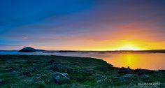 Midnight sun at Myvatn Lake, near Krafla volcano, North Iceland ✯ ωнιмѕу ѕαη∂у