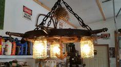 Nautical sailing ship wood ships wheel chandelier ceiling light ship wheel chandelier aloadofball Image collections