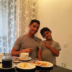Having a snack with the  of my life!  by cristiano