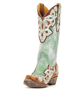 Old Gringo: Women's Marrione Boot - Brass/Aqua