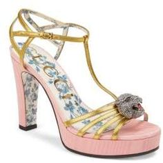 3d5397064c92cc Main Image - Gucci Elias Crystal Tiger T-Strap Sandal (Women). Tammie s ·  My Saks Fifth Avenue Collection