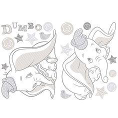 Disney Dumbo Wall Sticker | Dunelm
