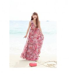 3065e073ef1d Buy Korean Maxi Dress from our online dress shopping boutique Red Floral Maxi  Dress