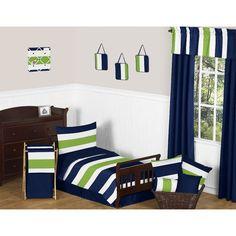 Stripe 5 Piece Toddler Bedding Set