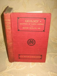 Antique-Collectable-Book-Of-Geology-Chapters-Of-Earth-History-1900s