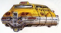 aapstra (Taxi, The Fifth Element concept-art by French...)