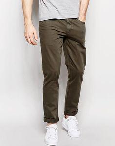 Immagine 1 di ASOS - Jeans skinny color kaki scuro