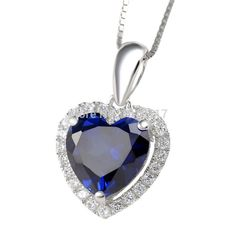 Heart of Ocean, Sapphire with Blue CZ
