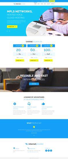 Joomla Theme , Internet Provider