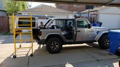 Scaffold for Hardtop storage and removal works great Jeep Wrangler Hard Top, Jeep Hard Top, Jeep Wrangler Forum, Wrangler Unlimited Sport, Wrangler Sahara, Jeep Hardtop Storage, Gladiator Storage, Jeep Tops, Jeep Jl