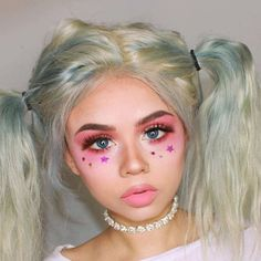 Nymphet Guide – Nymphet Make-up sieht aus ? - Makeup Looks Yellow Daily Makeup, Crazy Makeup, Makeup Goals, Makeup Inspo, Makeup Art, Makeup Inspiration, Kawaii Makeup, Cute Makeup, Maquillage Halloween