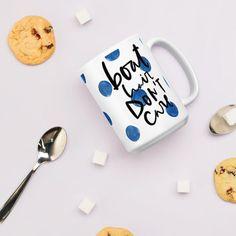 Boat Hair Dont Care Mug (Blue Watercolour Mug Series) - Blue Boat Mug Watercolour