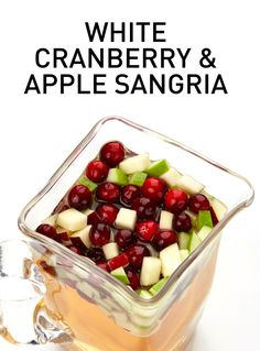 Put together a pitcher of this White Cranberry and Apple Sangria to get the party started. #BiteMeMore #sangria